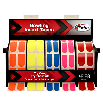 Texture Scroll - Turbo Grip Bowling Texture Tape-100 Piece Roll- Blue Orange Yellow Pink