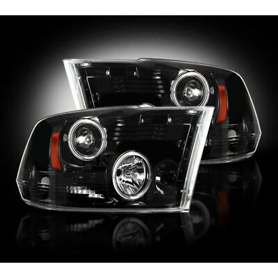 10-18 DODGE RAM 2500/3500 RECON SMOKED PROJECTOR HEADLIGHTS WITH LED HALOS. ()