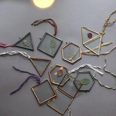 3 x Small Nkuku Copper Picture Photo Frames - Mini Kiko Clear Glass Double Sided - Small Photo Frames