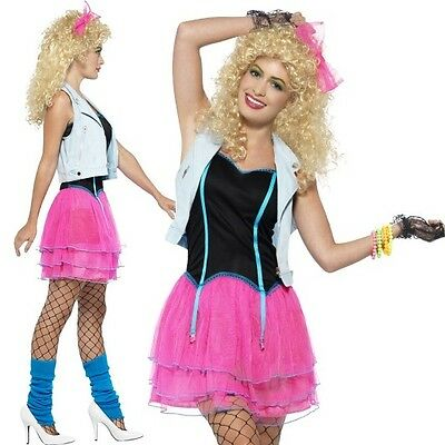 80s 1980s Wild Girl Music Fancy Dress Costume Madonna by Smiffys New  - 80s Music Costumes