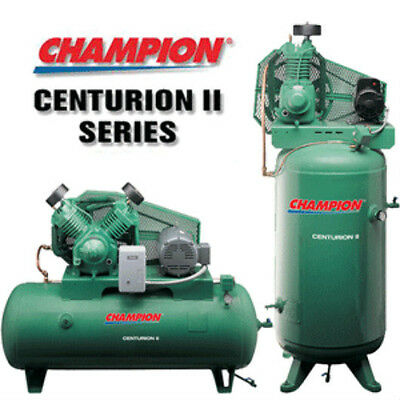 Champion Vrv7-12 Air Compressor 7.5 Hp Single Phase 120 Gal 230 Volt Vertical