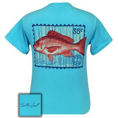 SOUTHERN LIMIT Red Snapper Lagoon Blue Fishing Short Sleeve Unisex Fit T-Shirt
