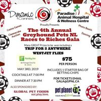 4th Annual Greyhound Pets NL Races to Riches Gala