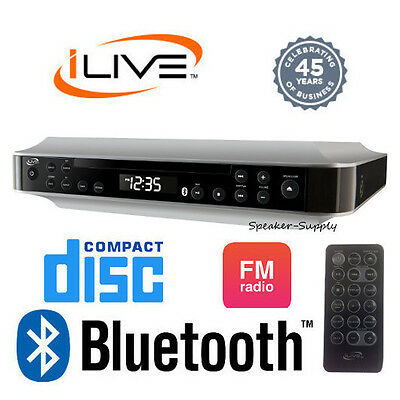 iLive Wireless Bluetooth Under Cabinet Kitchen Music System FM CD Aux IKBC384S