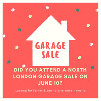 Looking for father & son who attended North London garage sale