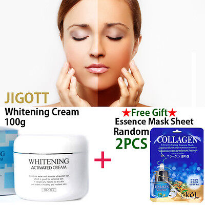 JIGOTT Whitening Activated Moisturizer Cream 100g Korea Cosmetic + Mask Sheet
