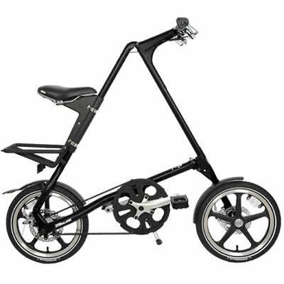 Strida Lt Black 16 Pulgadas Bicicleta Plegable Bicicleta de Ciudad