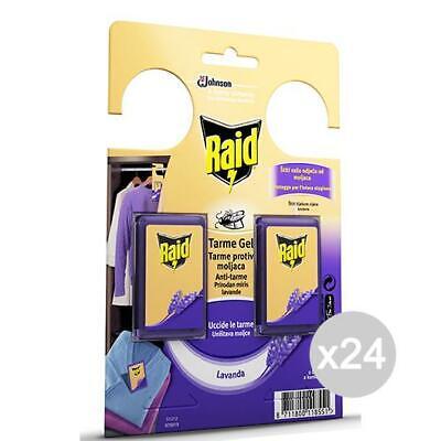 Set 24 RAID Tarme Gel Lavender X 2 Accessory For Cabinet