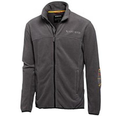 - Volvo Men's Identity Micro Fleece Jacket Grey Heat Imprinted Logo XS S XL 2X 3X