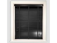 B&Q Black Venetian Blind with Tapes - 180cm new