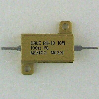 Dale 100 Ohm 10w 1 Precision Power Resistor Aluminum Case Chassis Mount Option