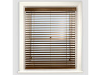 Walnut coloured wooden blind. 1800 x 1400mm. New in sealed box.