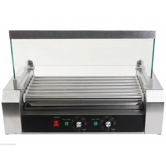 Hot Dog Roller Grill Bun Warmer Steel Food Cooker Electric Machine