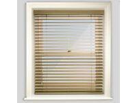 Premier Smooth Alabaster Wooden Blind - Still in box 186cm wide x 99cm drop