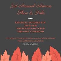 3rd Annual Whitevale Golf Club Artisan Craft Show