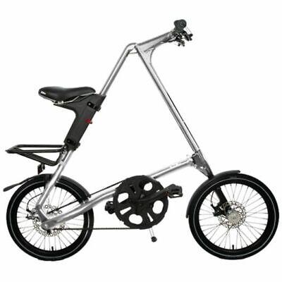 STRIDA SX Plateado Brush 18 Pulgadas Bicicleta Plegable Bicicleta de Ciudad