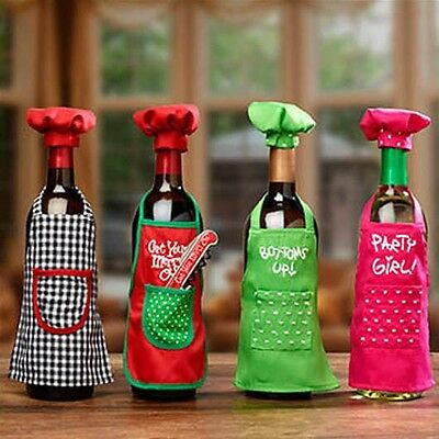Wine Bottle Apron Chef Set, Christmas Party Wine Decor, Wine Gift Giving Idea ](Wine Party Ideas)