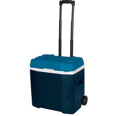 Igloo Profile 28L Blue White Teal Roller Cooler Fishing Camping Sports Caravan