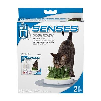 Catit Design Senses Grass Cat Garden Kit, Grass Refill ( 2-pack) Cat Grass