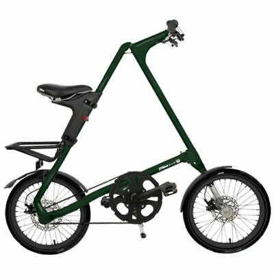 STRIDA Evo Inglés Verde Oscuro 18 Pulgadas Bicicleta Plegable de Ciudad