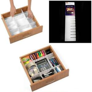 2 Piece Storage Drawer Draw Organiser Divider