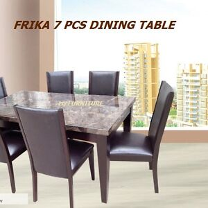 DINNING TABLE WITH 6 CHAIRS BRAND NEW FURNITURE.BLACK
