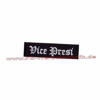 Vice Presi  Patch Biker Aufnäher ca.9x2,5 cm Rocker Rank MC Rang Patches Neu