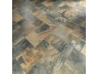 Italian 'Primitive' Tiles ceramic floor tiles worth £950