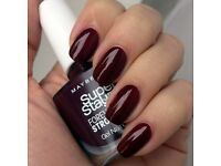 Maybelline Forever Strong Super Stay (287 Midnight Red) Nail Polish Varnish
