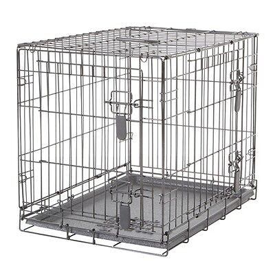 Dogit Two Door Black Wire Home Dog Crates with divider Small