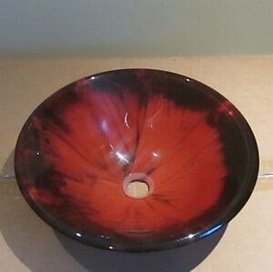 BRAND NEW BURNT ORANGE VESSEL SINK