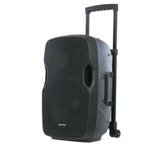 "Gemini AS-12TOGO 12"" Active Portable Bluetooth Loudspeaker with Rechargeable Battery Powered Speaker for PA DJ Party"