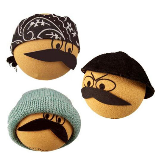 3 CoolBalls Cool Dudes Antenna Toppers / Mirror Danglers / Desktop Spring Stands