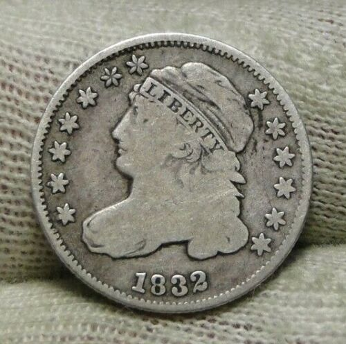 1832 Capped Bust Dime 10 Cents - Nice Coin, Free Shipping  (8609)