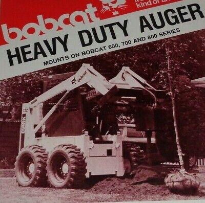 Bobcat 600 700 800 Series Skid Loader Standardtree Planting Auger Spec Brochure