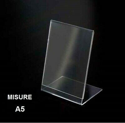 Exhibitor A L Plexiglass Clear Format A5 Leone Support Prices Bar