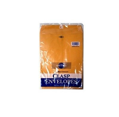 20 Clasp Envelopes Mailers 9 X 12 Heavyweight Brown Kraft