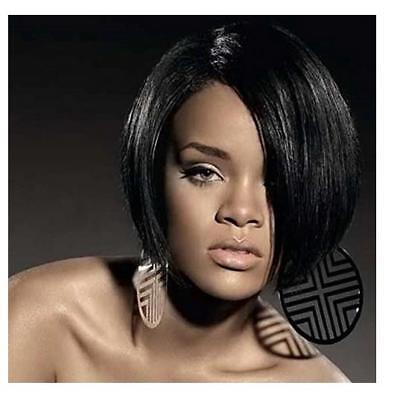 US Synthetic Short Bob Wigs Straight Black Wigs Sexy Cheap Wigs for Black Women - Wigs For Women Cheap