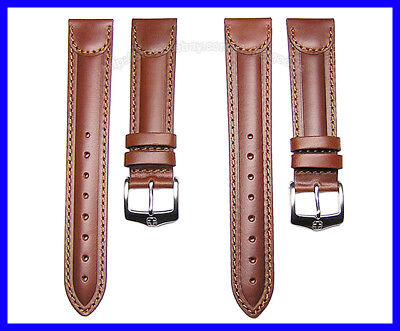 Wenger Replacement - 19mm 20mm Brown Replacement Leather Watch Band Strap Suits Wenger Swiss Army