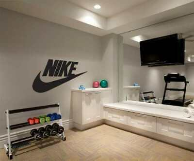Nike Swoosh Wall Decal Art Sports Basketball Decor Sticker Brands