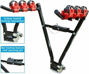 NEW-3-Bike-Towbar-Mount-Cycle-Bicycle-Carrier-Rack-for-Car-Rear-Tow-Bar-Towball