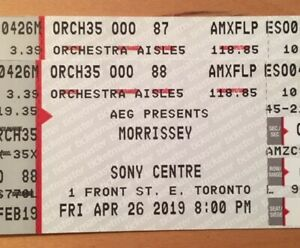Morrissey Tickets - Friday April 26 - 2 Orchestra Seats