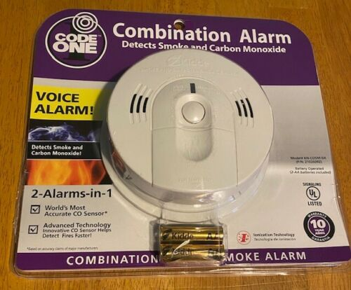 NEW Kidde Code One Combination Smoke and Carbon Monoxide Alarm with Voice Alarm