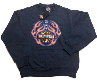 Harley-Davidson Boy's Crew sweatshirt Flame Ride Medium 10-12 Ride Crew Sweatshirt