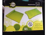 Brand new yoga mat and Wii fit Silicon cover