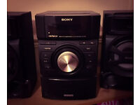 Sony Sound System with 2 Speakers with I phone 3/4 doc