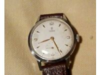 Tudor (Rolex) Gents watch 1950s - manual wind with subsidiary second hand. Superb Watch