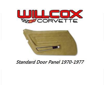 70-77  CORVETTE STANDARD DOOR PANEL W/UPPER FELT INSTALLED RIGHT HAND
