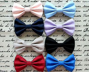 New-American-Apparel-Style-Big-Cotton-Fabric-Bow-Hair-Clip