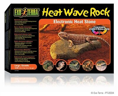 Exo Terra Large Heat Wave Reptile Desert Terrarium Tank Basking Heating Rock